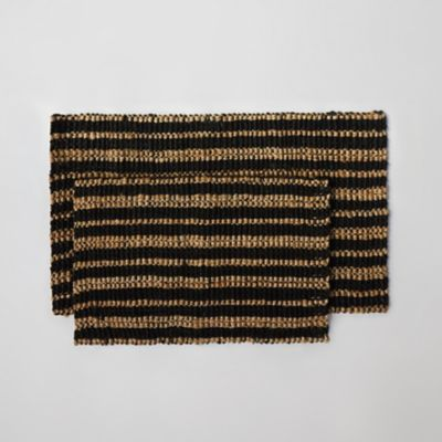 Multi Stripe Jute Doormat