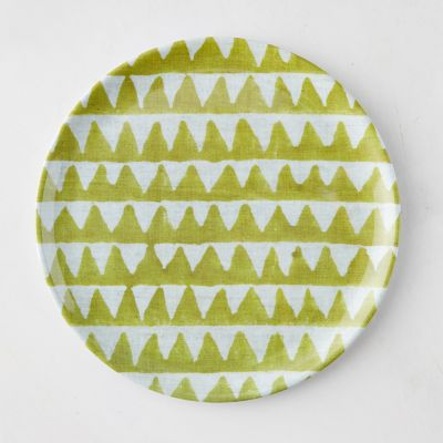 Color Burst Melamine Plate