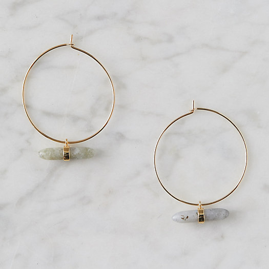 View larger image of Labradorite Bar Hoop Earrings
