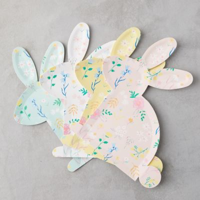 Wildflower Bunny Paper Plates