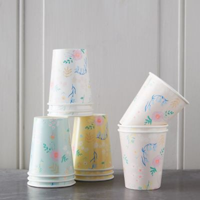 Wildflower Paper Cup Set