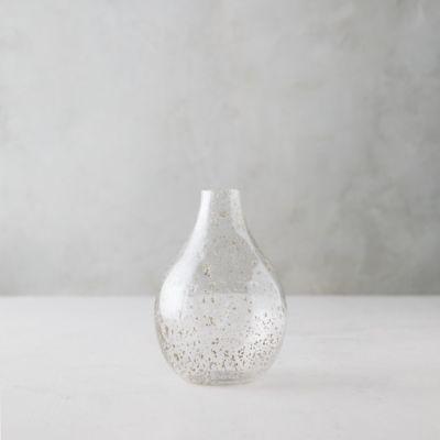 Speckled Glass Oval Vase