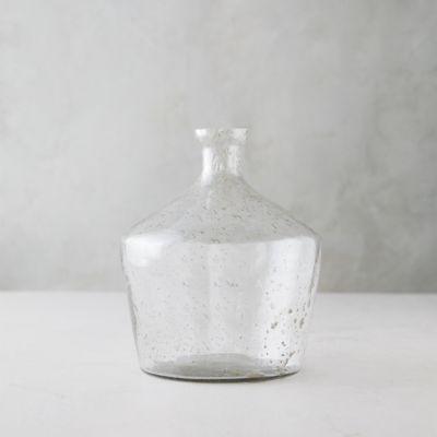 Speckled Glass Curved Base Vase
