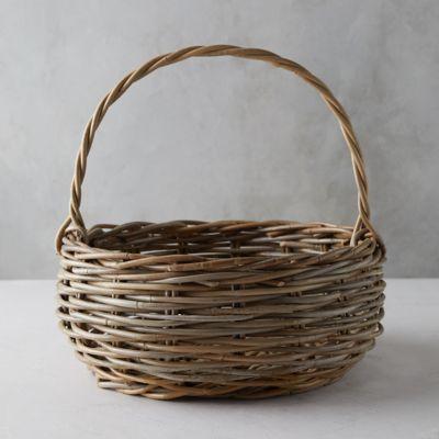 Rattan Handled Basket