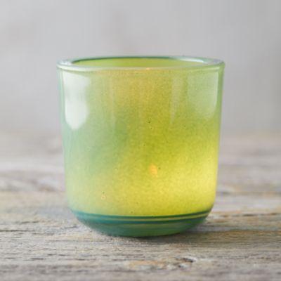 Colored Glass Tea Light Holder