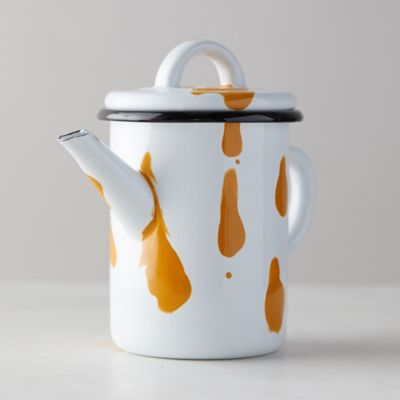 Color Burst Enamel Teapot