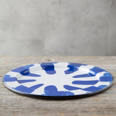 Color Burst Enamel Charger