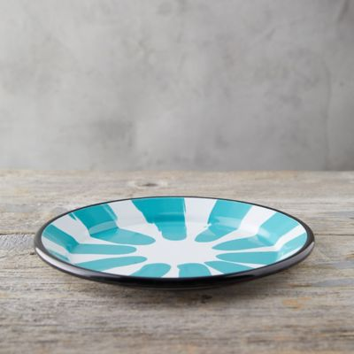 Color Burst Enamel Dinner Plate