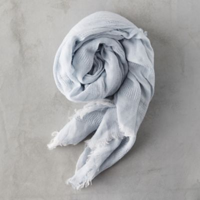 Fringed Hem Cotton Scarf