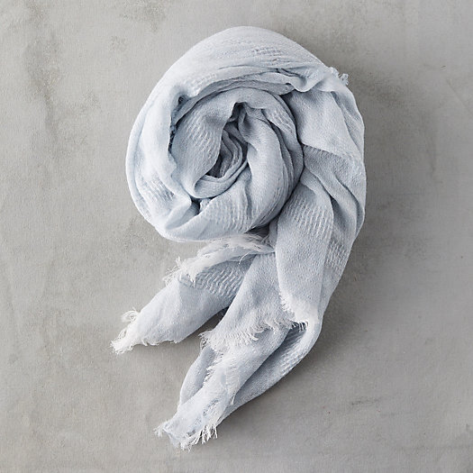 View larger image of Fringed Hem Cotton Scarf