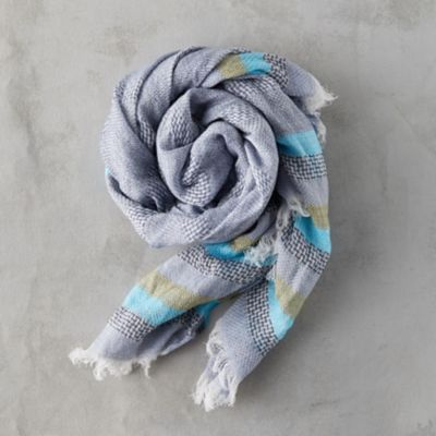 Fringed Stripe Edge Scarf