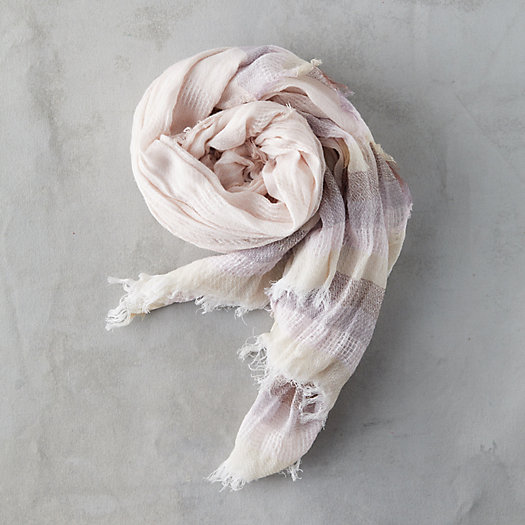 View larger image of Fringed Stripe Edge Scarf