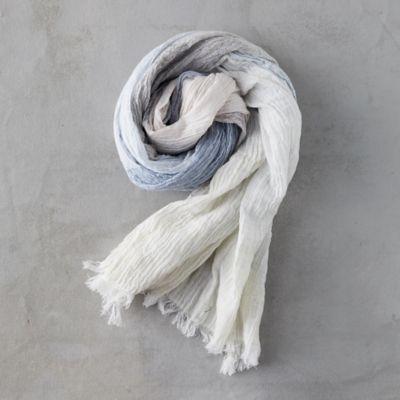 Gray Colorblock Scarf