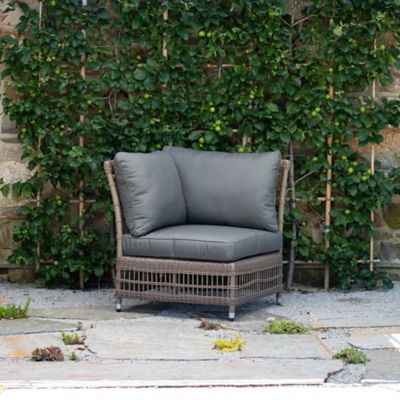 Trellis Weave All Weather Wicker Corner Chair