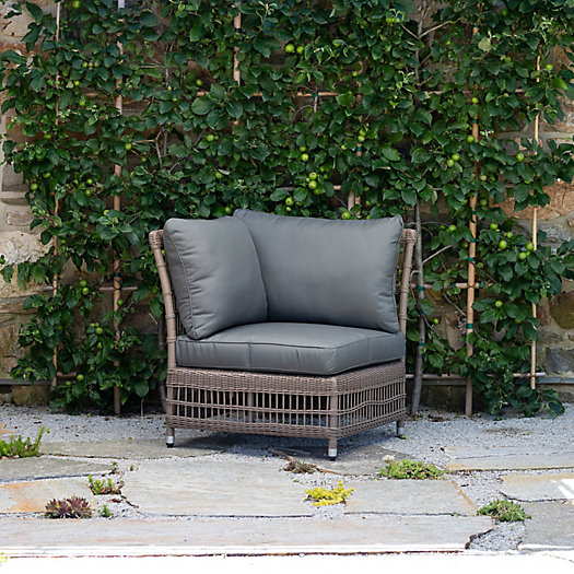 View larger image of Trellis Weave All Weather Wicker Corner Chair