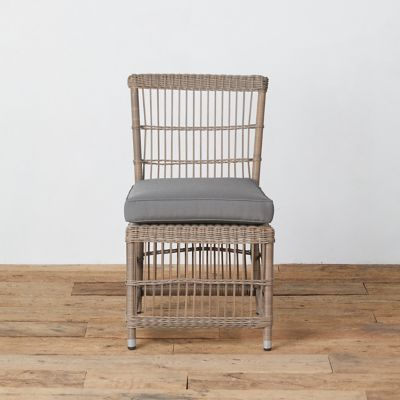 Trellis Weave Wicker Side Chair