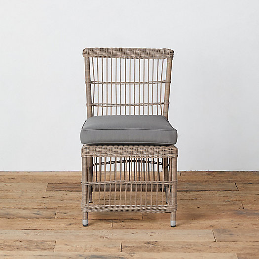 View larger image of Trellis Weave Wicker Side Chair