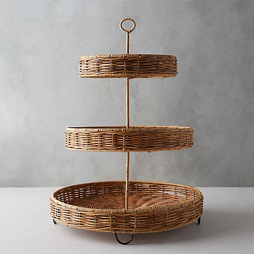 View larger image of Wicker Tiered Serving Tray