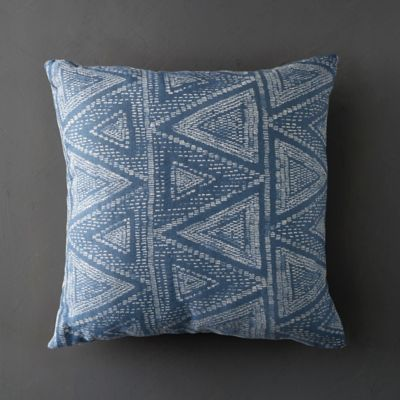 Blue Diamond Outdoor Pillow