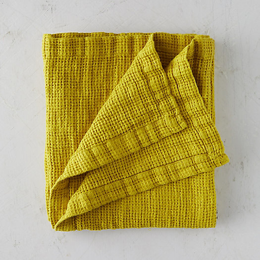 View larger image of Washed Linen Waffle Throw