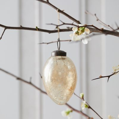 Crackle Glass Egg Ornament