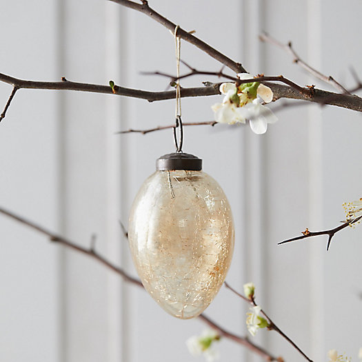 View larger image of Crackle Glass Egg Ornament