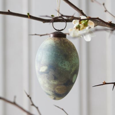 Verdigris Egg Ornament