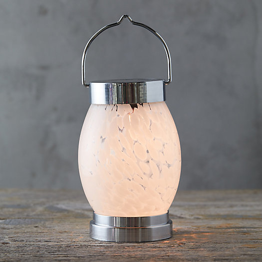 View larger image of Marbled Glass Solar Lantern, Oval