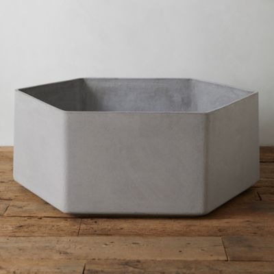 Fiber Hexagon Planter