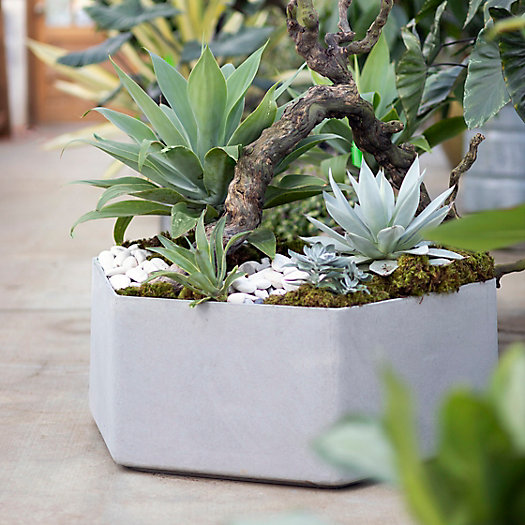 View larger image of Fiber Hexagon Planter