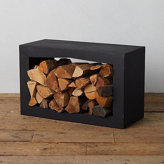 View larger image of Square Steel Log Holder