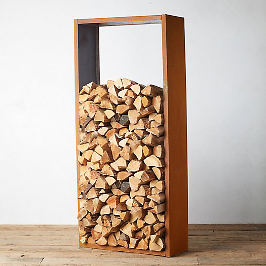 View larger image of Weathering Steel Log Holder