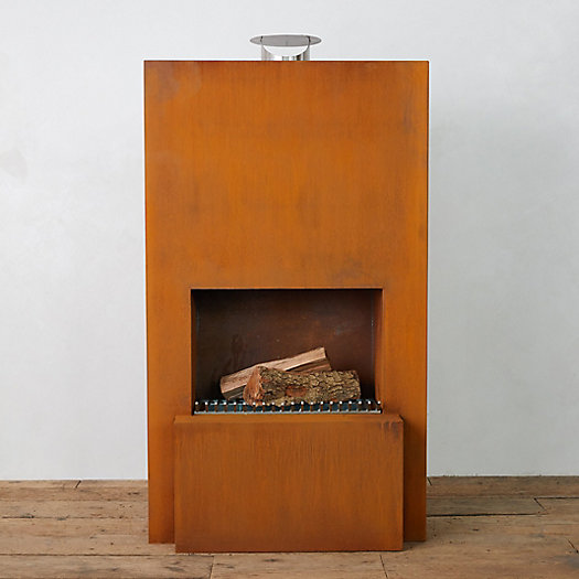 View larger image of Planed Weathering Steel Chiminea