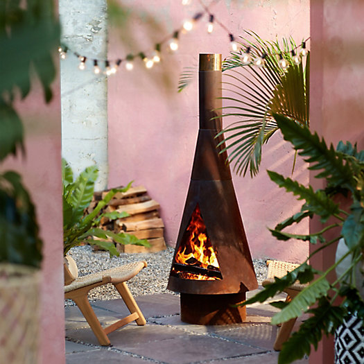 View larger image of Angled Obelisk Chiminea