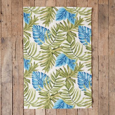 Natural Palm Leaf Rug