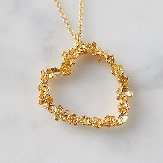 View larger image of Floral Heart Necklace