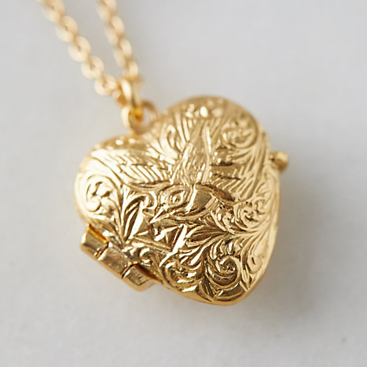 View larger image of Victorian Heart Locket Necklace