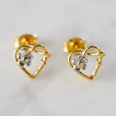 Posy Heart Stud Earrings