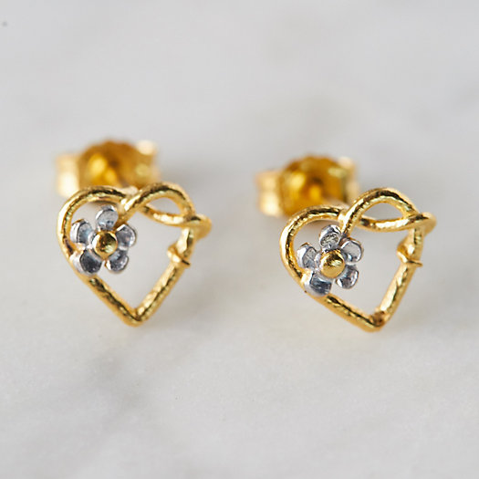 View larger image of Posy Heart Stud Earrings