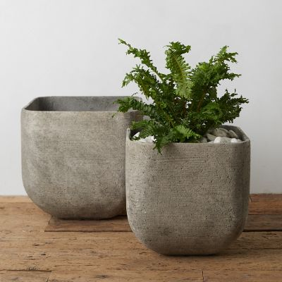 Fiber Concrete Square Planter