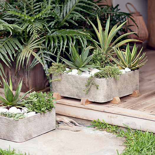 View larger image of Fiber Concrete Square Planter, Low