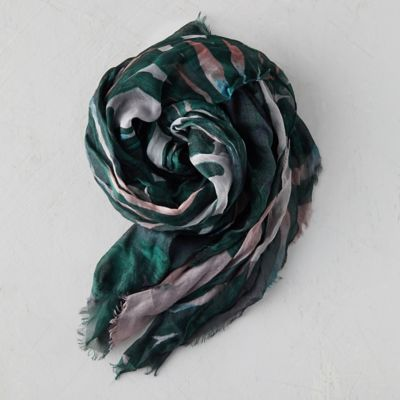 Turquoise Blooms Scarf
