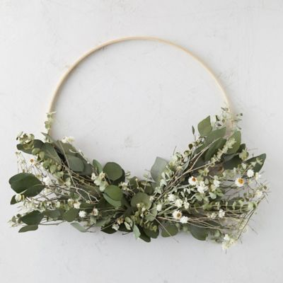 Asymmetrical Eucalyptus Wreath