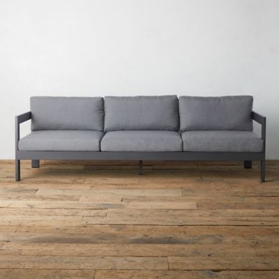 Highline Aluminum Three Seat Sofa