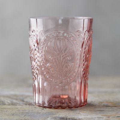 Fleur de Lys Glass Tumbler