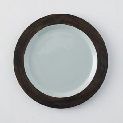 Mango Wood + Enamel Plate