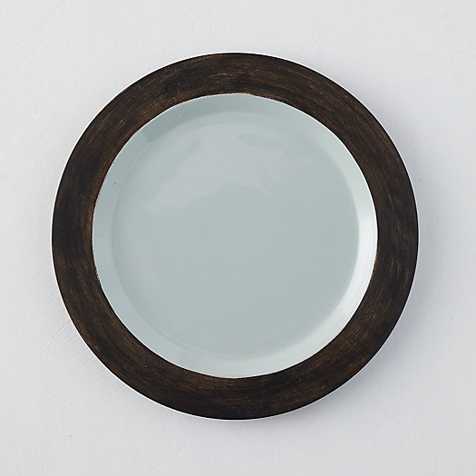View larger image of Mango Wood + Enamel Plate