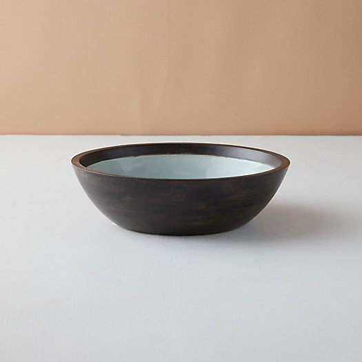 View larger image of Mango Wood + Enamel Bowl
