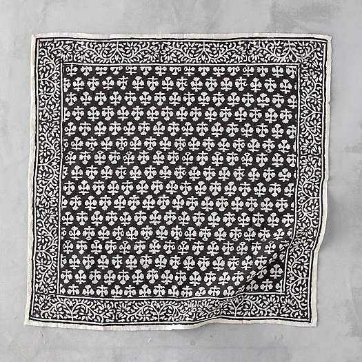 View larger image of Cotton Botanical Block Print Bandana