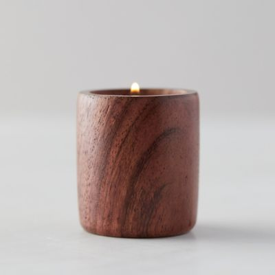 Dark Wood Tea Light Holder